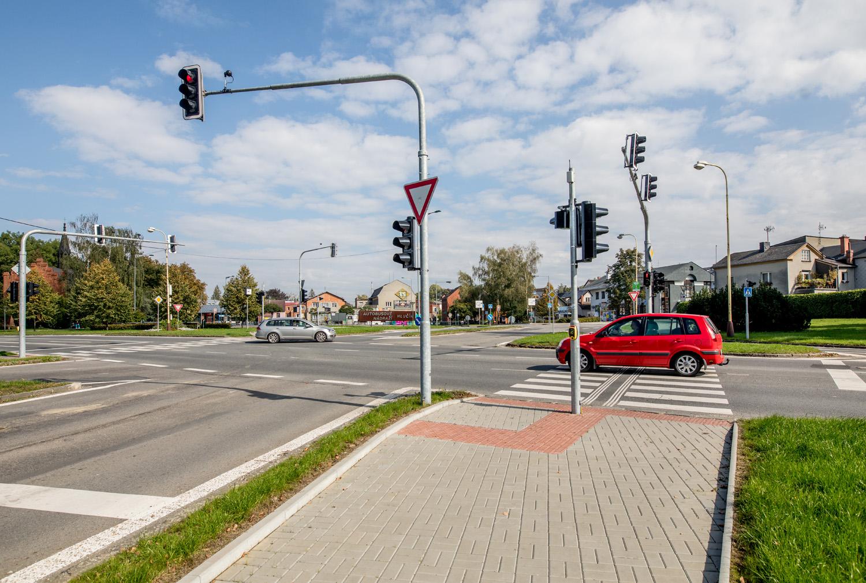 Semafory u autobusového nádraží Hlučín
