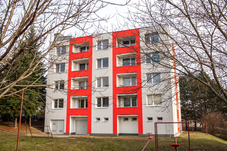 Revitalizace bytového domu Traťová 589/2, Brno